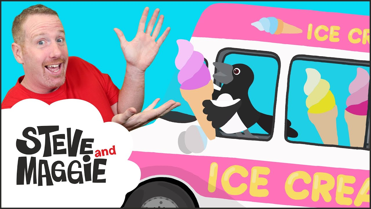 The Wheels on the Ice Cream Truck with Steve and Maggie | Cars for Kids | Wow English TV