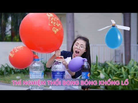 Thí Nghiệm Vui Thổi Bong Bóng Khổng Lồ - Đồ Chơi Balloon Helicopter