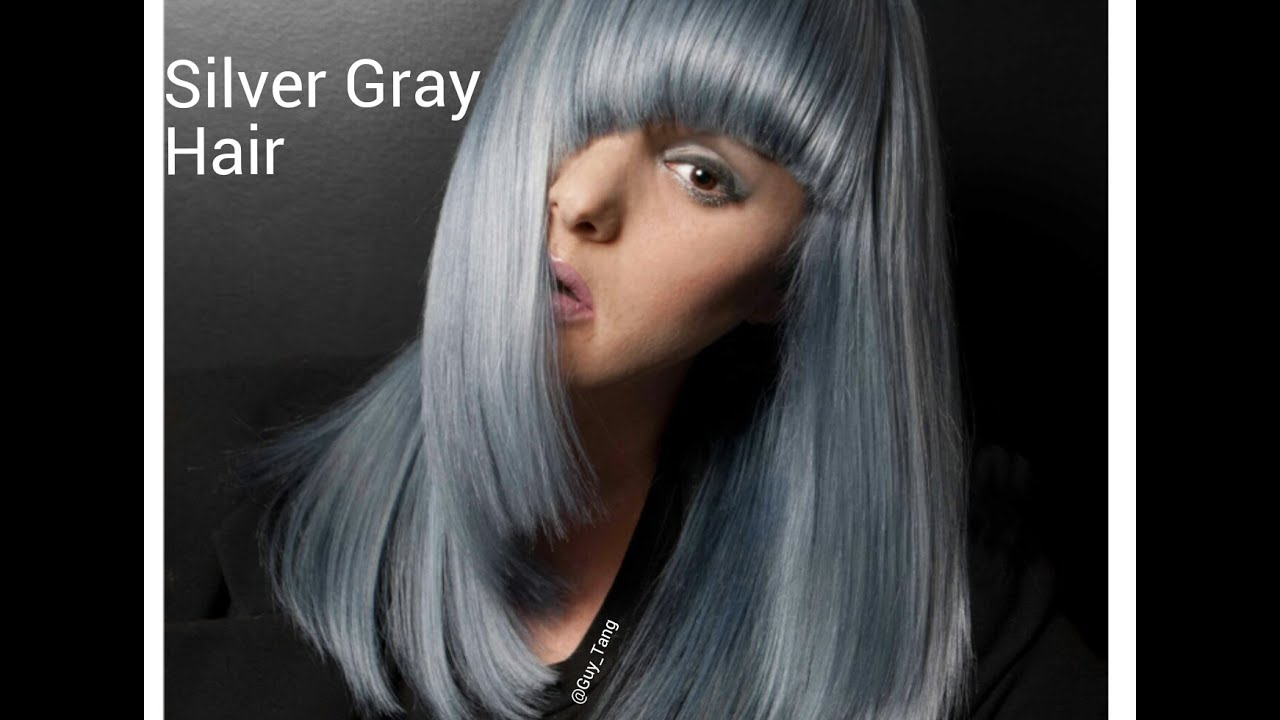 granny hair silver slate gray make-over