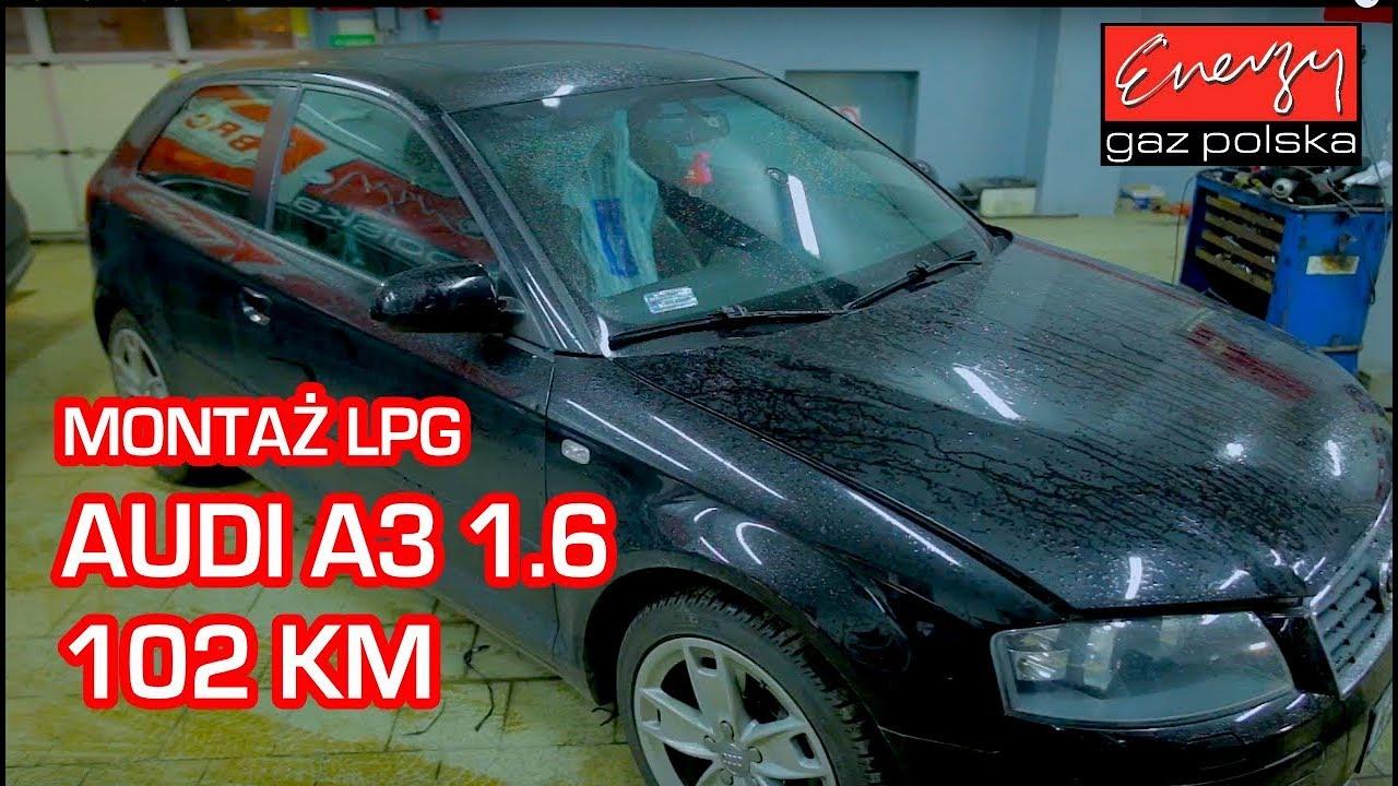 Montaż LPG Audi A3 z 1.6 102 KM 2003r w Energy Gaz Polska na gaz BRC SQ 32