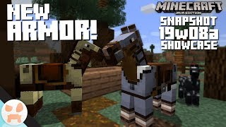 NEW HORSE ARMOR! | 19w08a Snapshot Features & Changes - Minecraft 1.14