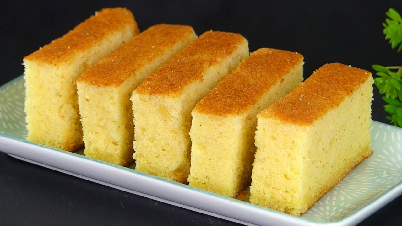 Easy Bakery Style spongy Plain Cake Recipe by Tiffin Box |Basic Vanilla  Pound Cake in air fryer oven - YouTube