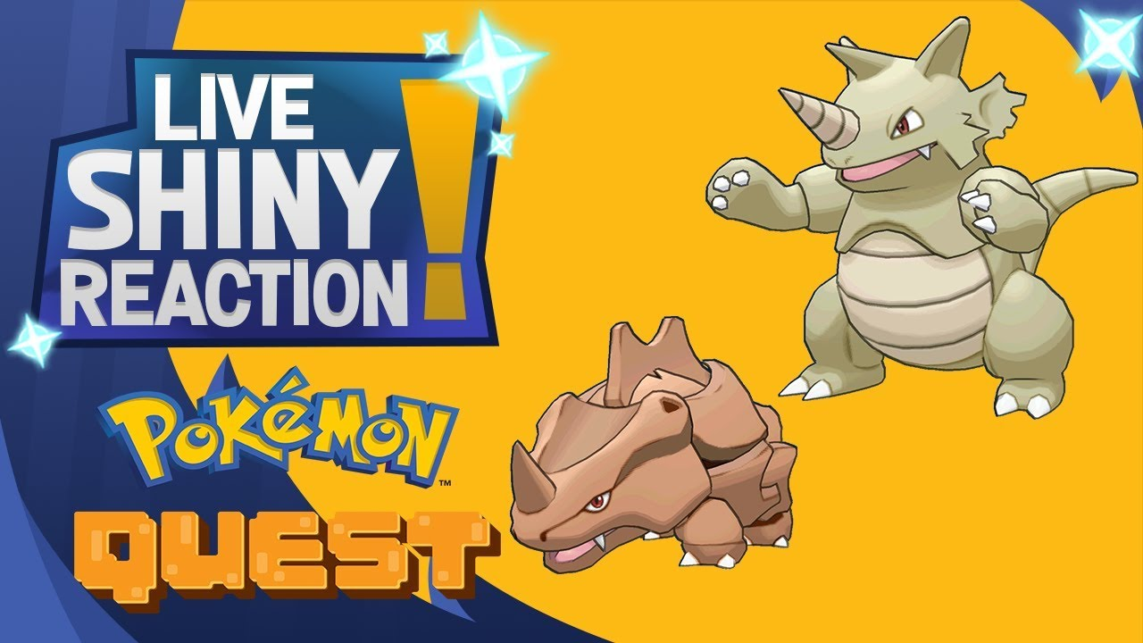 Shiny Rhyhorn And Rhydon In Pokemon Quest Youtube