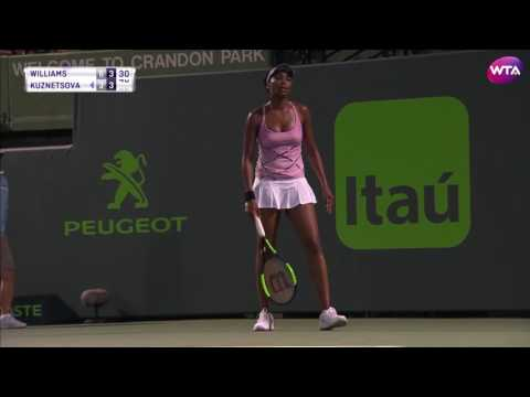WTA Highlights: 2017 Miami Open Fourth Round   V  Williams vs Kuznetsova