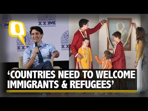 'Countries Need to Do More to Welcome Immigrants': Trudeau at IIMA | The Quint