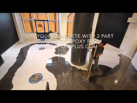2 Part Epoxy Installation On A Concrete Floor