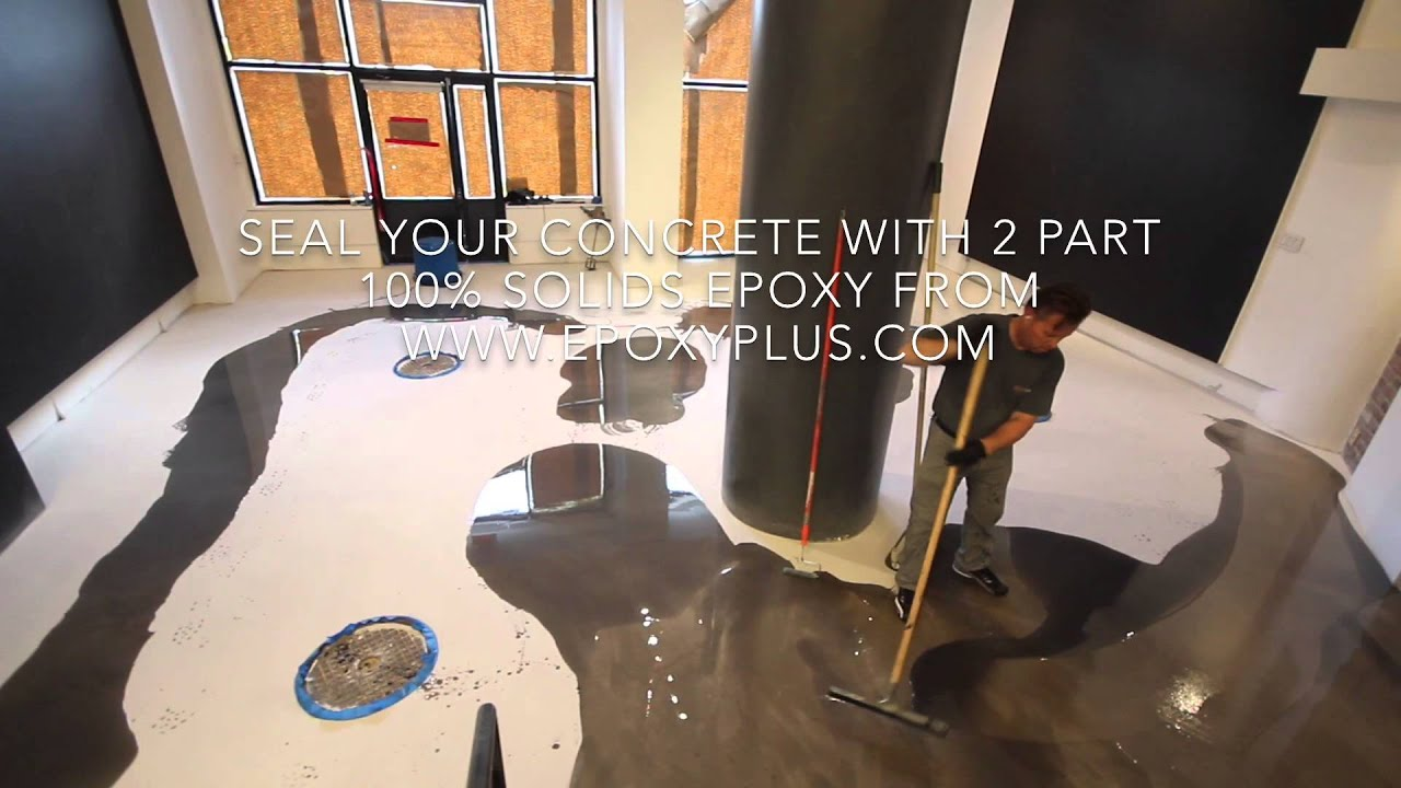 2 Part Epoxy Coating Installation On A