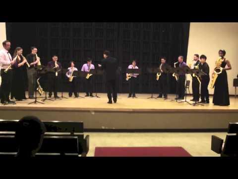 """Klezmer Salsa"" from Meeting Point by Philippe Geiss (UIowa Saxophone Ensemble and Kenneth Tse)"