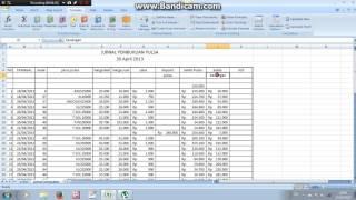Pembukuan Pulsa Sederhana Dengan Ms Excel Part 1