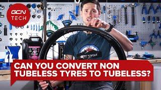 튜브리스가 아닌 타이어를 튜브리스로 전환 할 수 있습니까? | GCN 테크 클리닉 #AskGCNTech