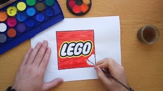How to draw the Lego logo (Logo drawing)