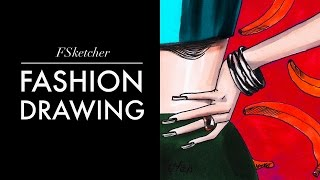 HOW TO DRAW HANDS (1) | Fashion Drawing