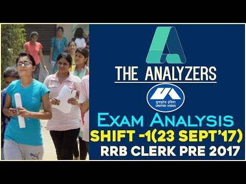 The Analyzers - Exam Analysis Of IBPS RRB CLERK PRE 2017 (Shift -1)| With Questions
