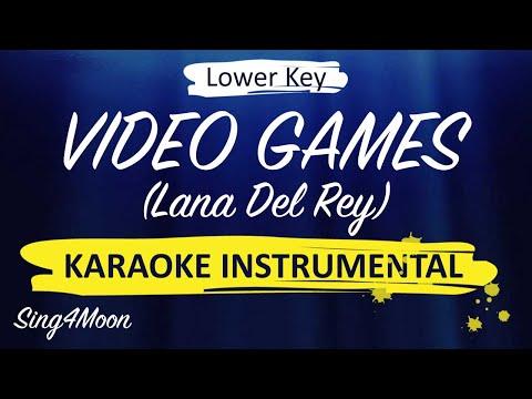 Video Games – Lana Del Rey (Karaoke Instrumental) Lower Key
