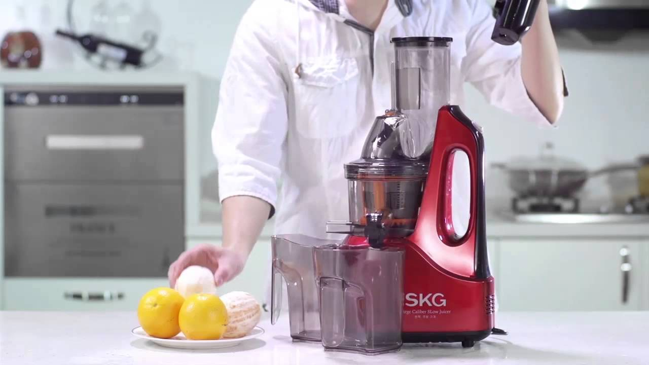 SKG Slow Juicer-60 RPM - The secret to the best juicing - YouTube