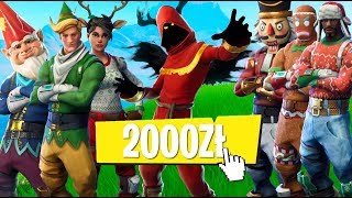I BOUGHT ALL the CHRISTMAS SKINS for OVER 2000Zł-SUMMARY of the FESTIVE EVENT in FORTNITE!