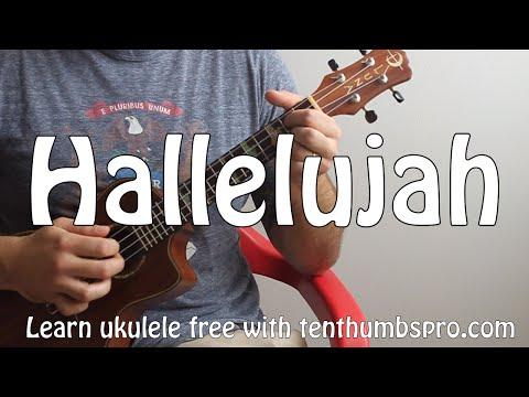 Hallelujah - Leonard Cohen, Jeff Buckley, - How to play Finger picking Ukulele song tutorial