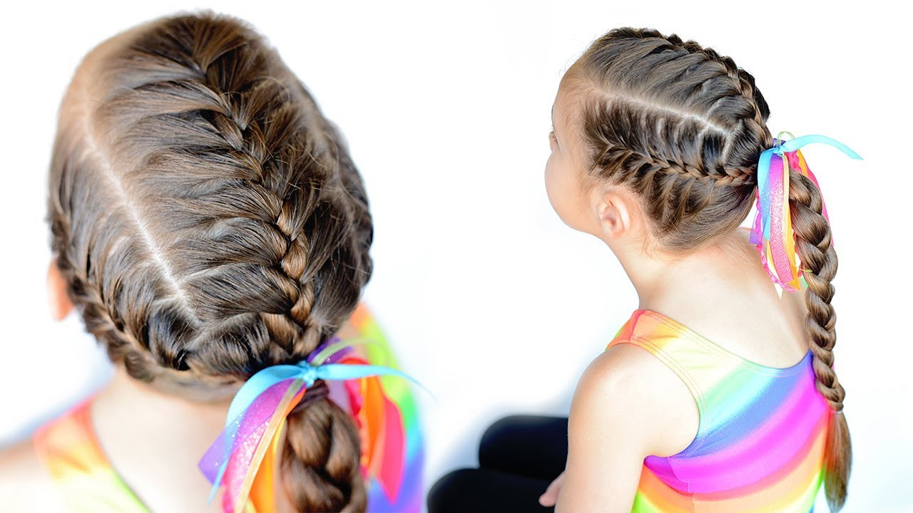 sport hairstyles - 3 french braids ponytail
