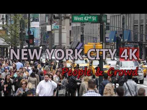 Ultra HD 4K New York City Travel Crowd Tourist People US Tourism Sightseeing UHD Video Stock Footage