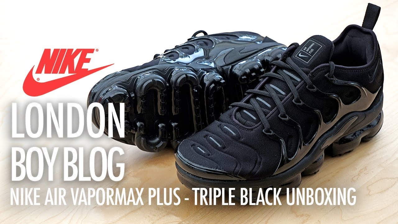 check out a0c19 45431 Nike Air Vapormax Plus Triple Black - Unboxing