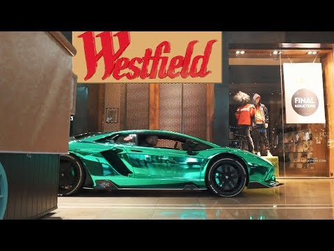 Chrome Aventador goes Shopping in Westfield with Micro Motorz #ad