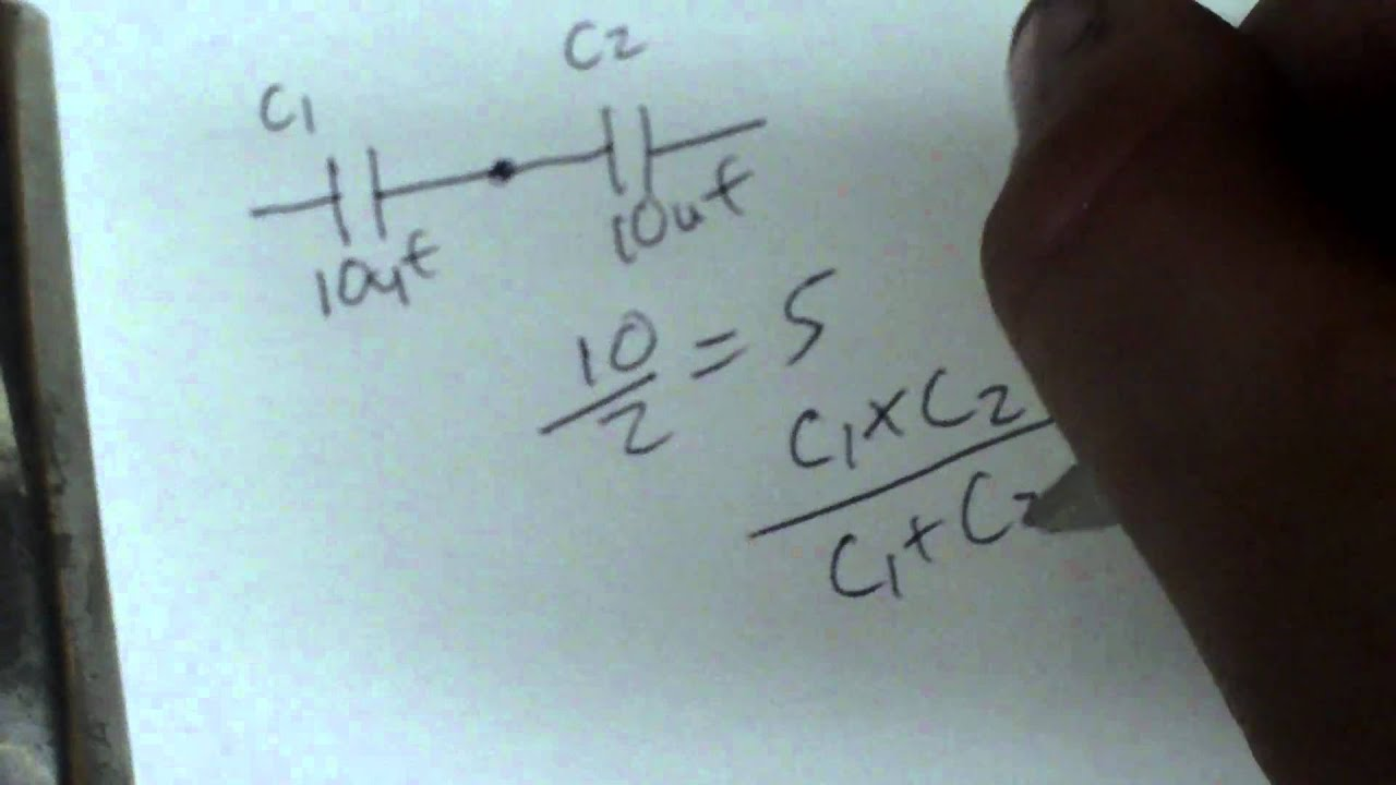 parallel and series capacitor calculations youtube rh youtube com