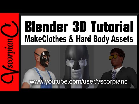 Blender 3D Tutorial - MakeHuman, How to use MakeClothes for Hardbody Assets  by VscorpianC