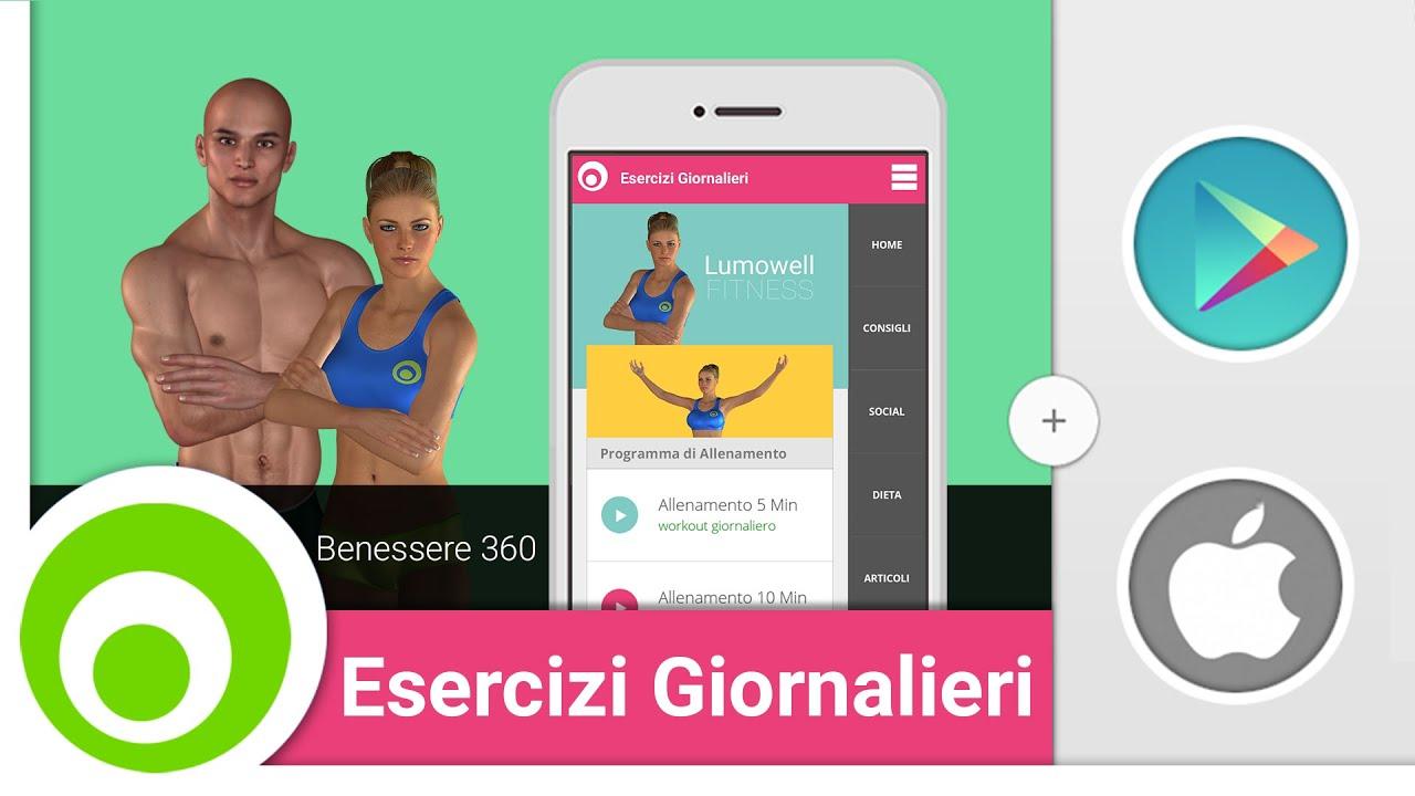 Esercizi giornalieri lumowell app per android e ios for App per progettare casa android