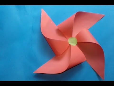 Origami Windmill!!How To Make An Origami Windmill!!Origami Paper