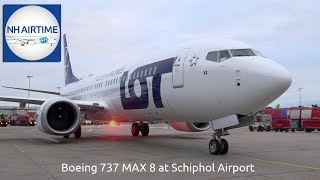 BOEING 737 MAX 8 of LOT POLISH AIRLINES at SCHIPHOL