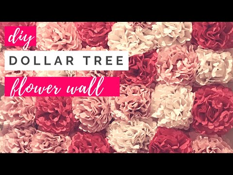 DIY Dollar Tree Tissue Paper Flower Wall | Cheap $30 Paper Flower Wall