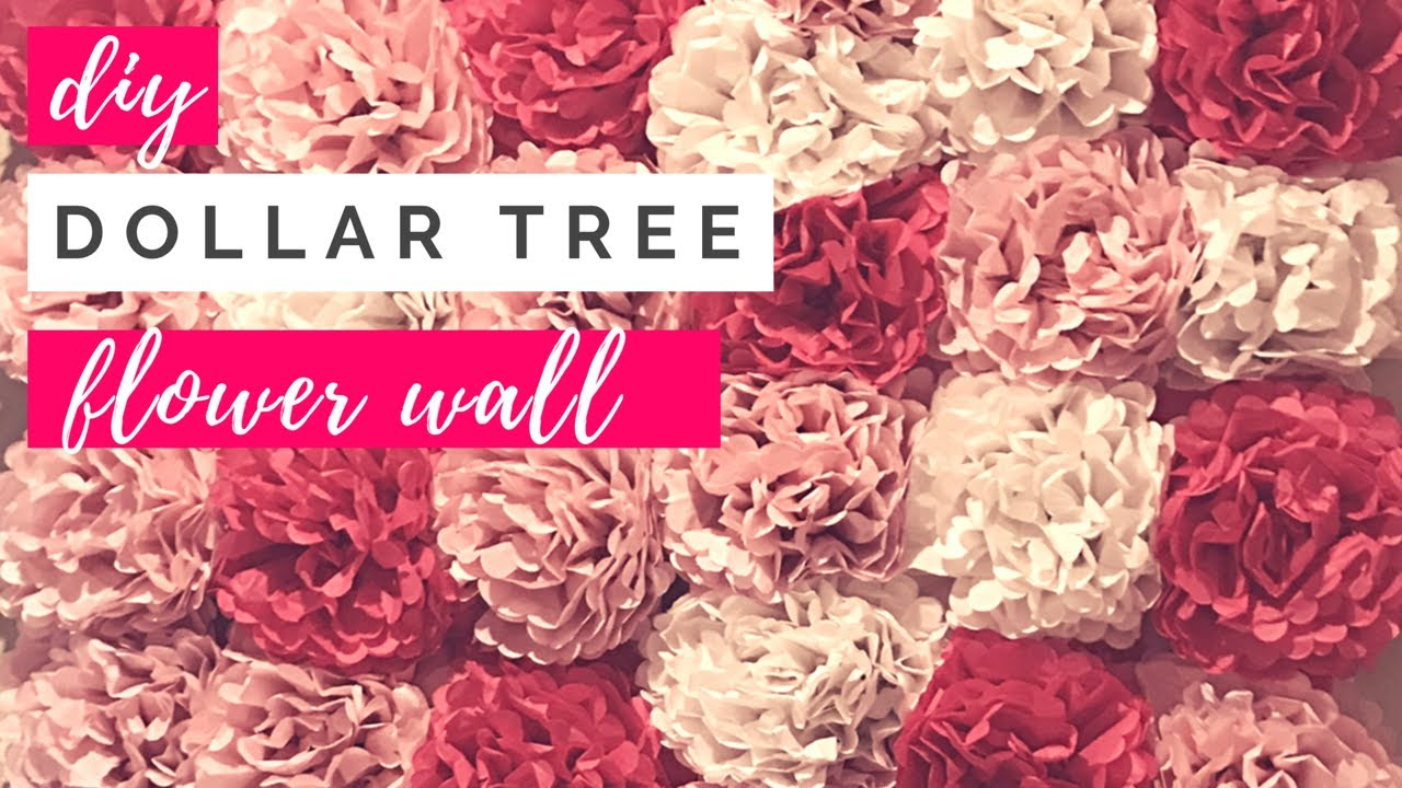 Diy Dollar Tree Tissue Paper Flower Wall Cheap 30 Paper Flower Wall