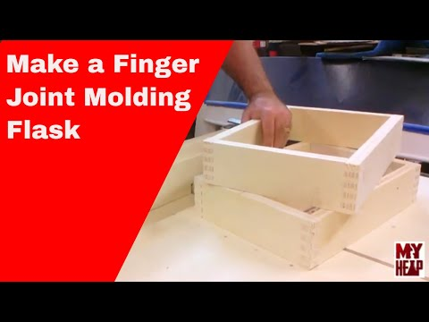 Metal Casting and Foundry - Ep 2: Making a Finger Joint Molding Flask