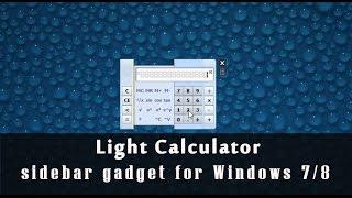 Light calculator - Windows 7 gadget