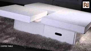 Modern Crocodile White Coffee Table Vgun8879a_wh