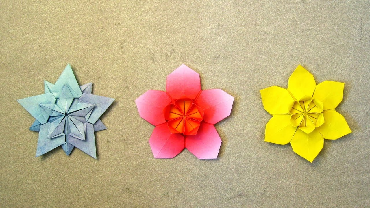 Origami instructions sakura star ali bahmani youtube mightylinksfo