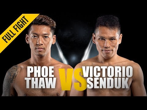 Phoe Thaw vs. Victorio Senduk | Sensational Stoppage | ONE Full Fight | June 2019