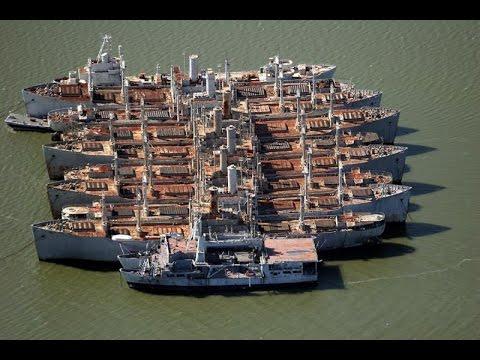 Sneaking Aboard the Mothball Fleet of Navy Ships (James River, Virginia Trip Intro)