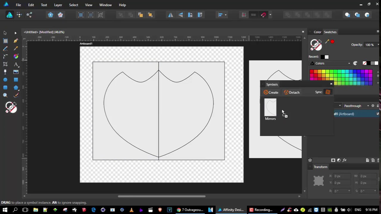 Affinity Designer - Symmetry and the Symbol Tool