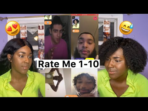Asking Guys To Rate Me 1-10! Natural Hair Vs Weave (MONKEY APP) | Public Interview | A TheJawn