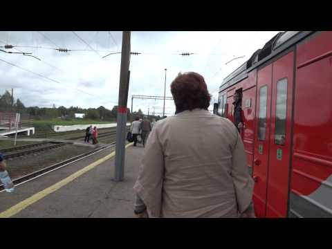 Отправление электрички Н.Новгород - Семенов со ст  Тарасиха