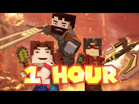 """Me Against The World"" 1 HOUR - A Minecraft Original Music Video ♪"