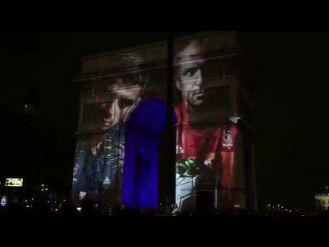Fantastic show on the Arc De Triomphe for 25th Handball World Championships in France