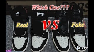 e915d7232 Real VS Fake Air Jordan 1 Not for Resale ...