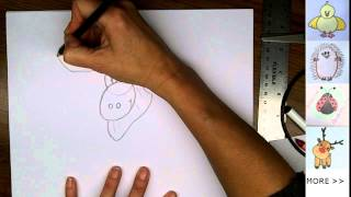 Drawing: How To Draw Cartoon Moose for Canada Day!