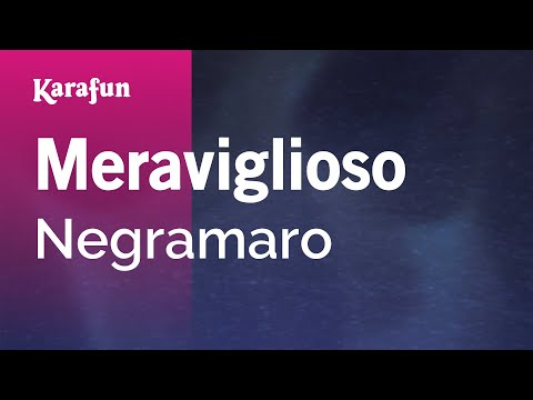 Karaoke Meraviglioso - Negramaro *