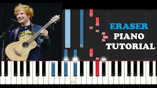 Ed Sheeran - Eraser (Piano Tutorial/Instrumental)