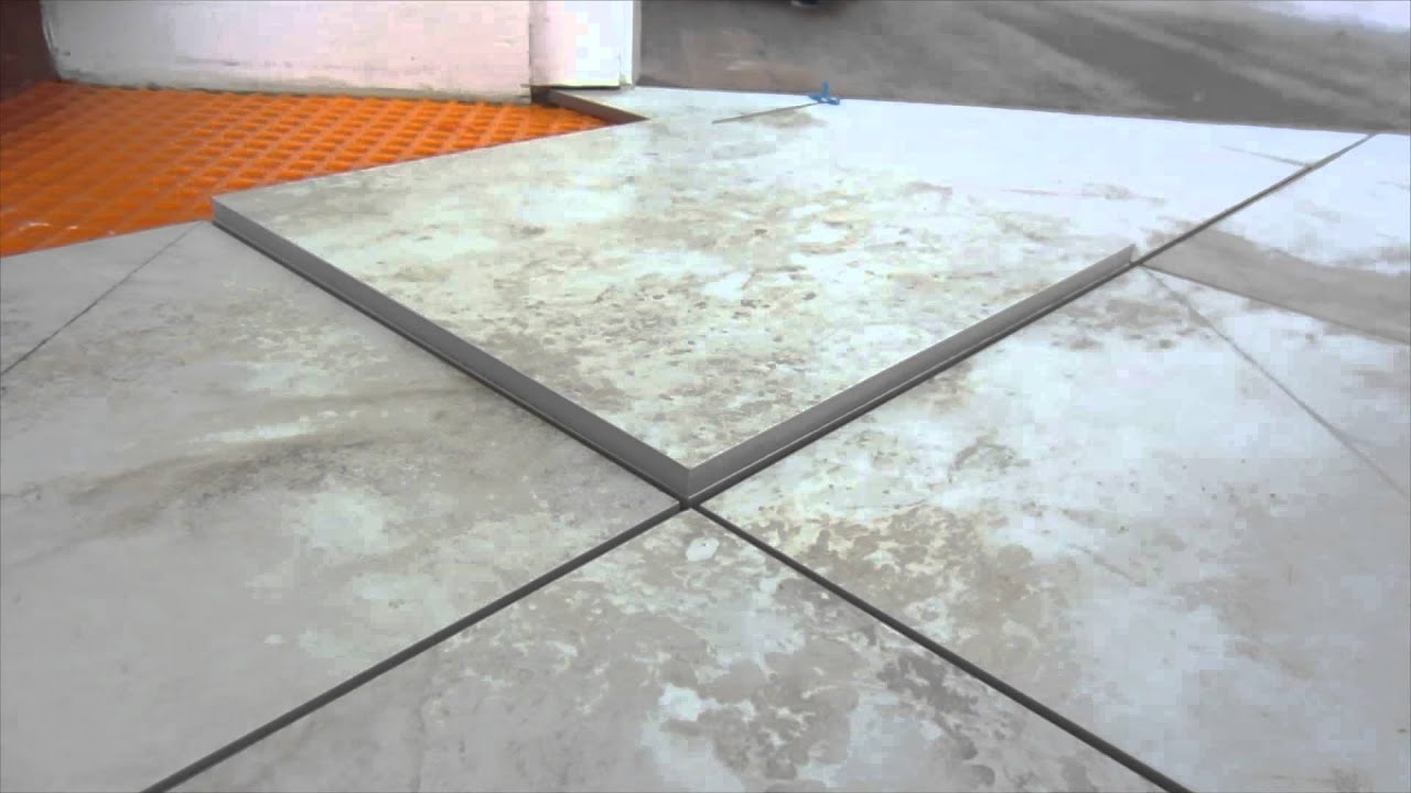 Easy way to measure and mark ceramic tile for diagonal and for 12x12 floor tile designs