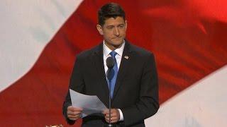 House Speaker Paul Ryan announces Trump as GOP party nominee