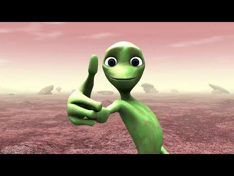 Зеленый человечек мультфильм